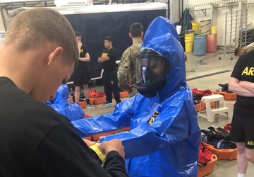 456th MCAS Soldiers train at a hazmat awareness course