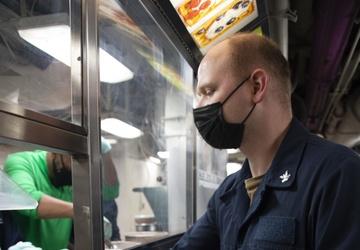 USS Carl Vinson (CVN 70) Hosts an Ice Cream Social on the Mess Decks