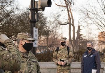 Maj. Gen. Paul Rogers Visits Troops in Washington, D.C.