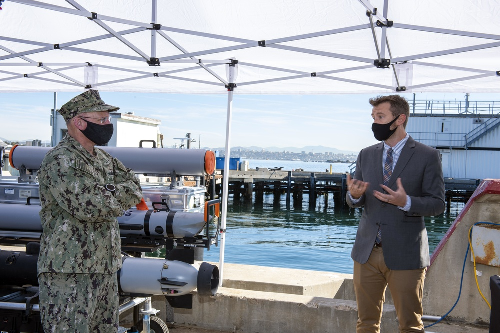 CNO in San Diego, Meets with Project Overmatch Team on Fleet Modernization