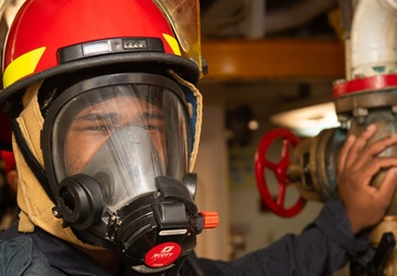 USS Princeton Conducts General Quarters Drill