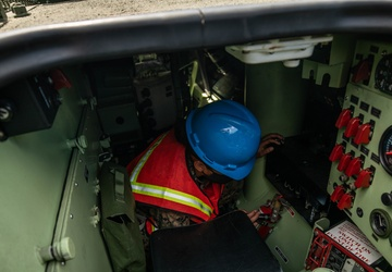 Hagåtña Fury 21: CLR-3 Marines inspect and prepare vehicles for backload of the USNS Pililaau