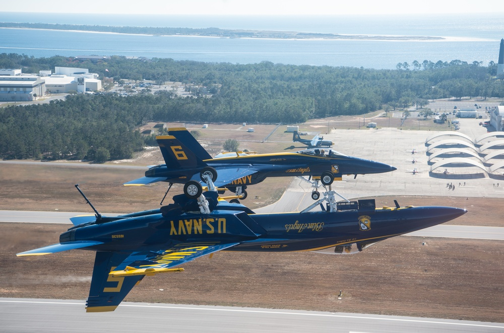 Blue Angels Flight Over NAS Pensacola