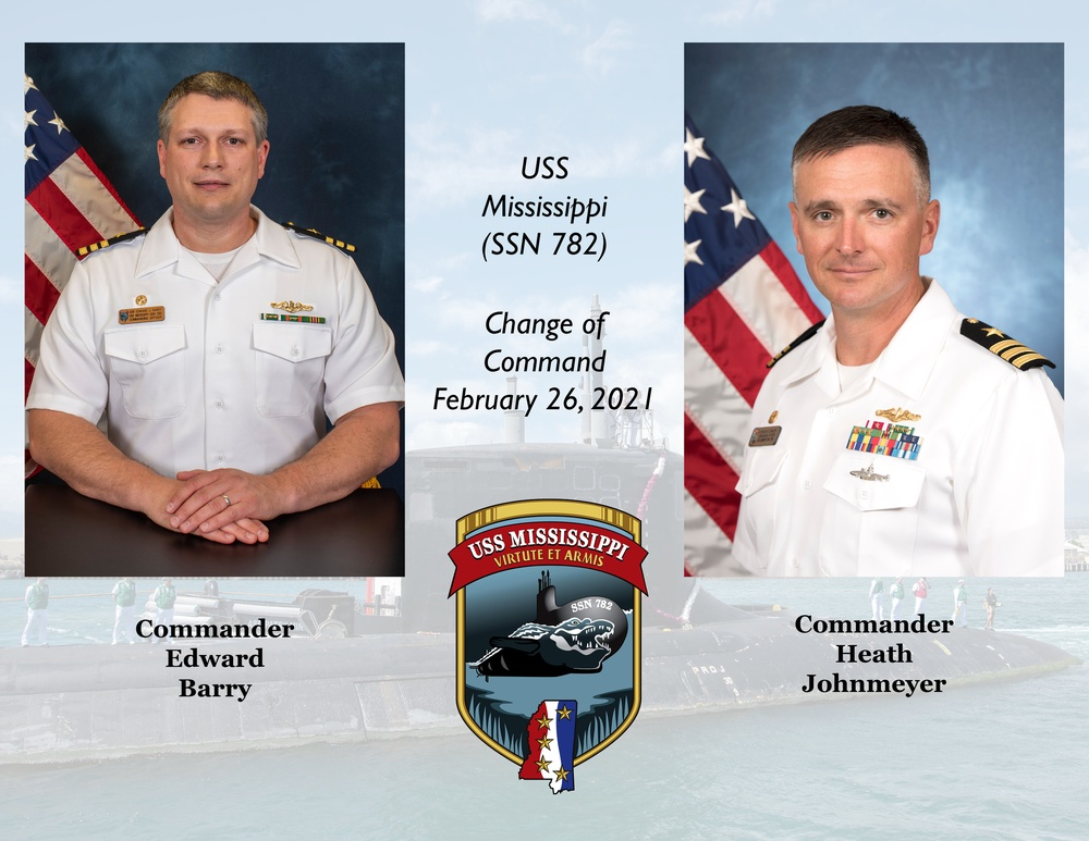 USS Mississippi Conducts Change of Command