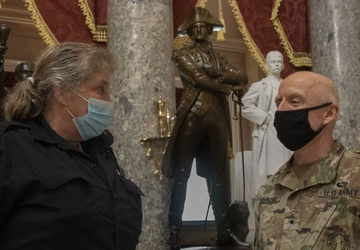 Brig. Gen. Driscoll Tours Capitol Rotunda in DC