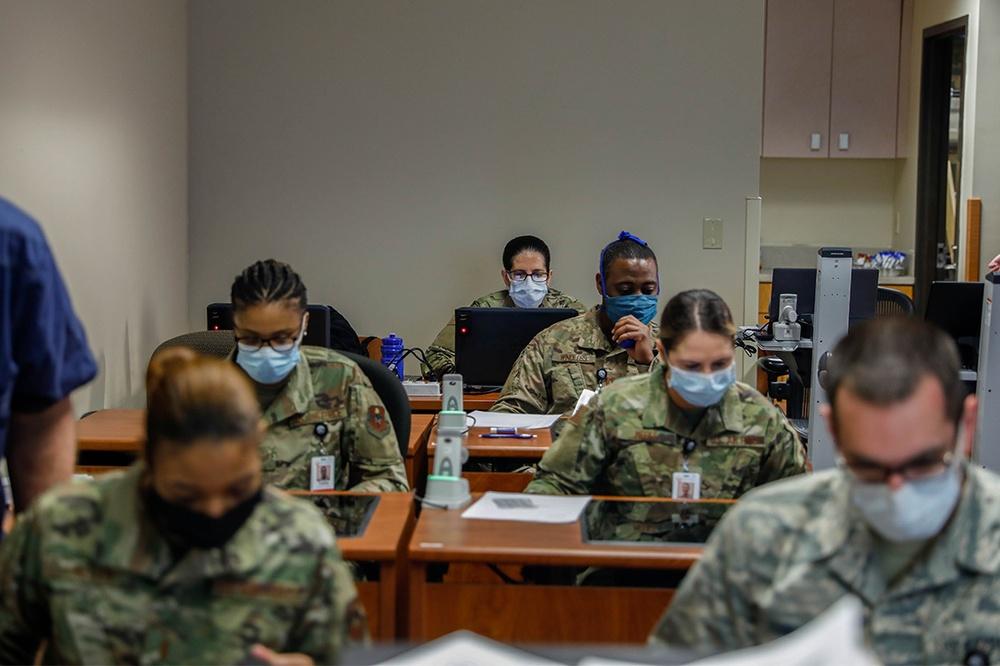 Airmen in-processing Kingman Medical Center