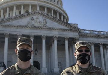 1430th EN CO Soldiers in Washington DC