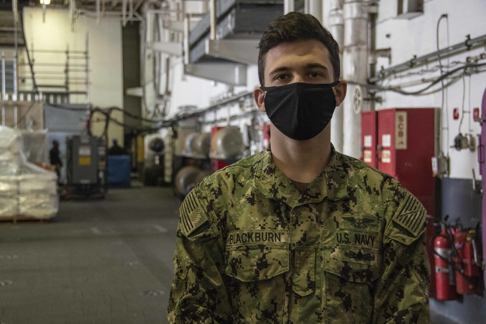 Canyon Lake native serving on USS Ronald Reagan receives COVID-19 vaccine
