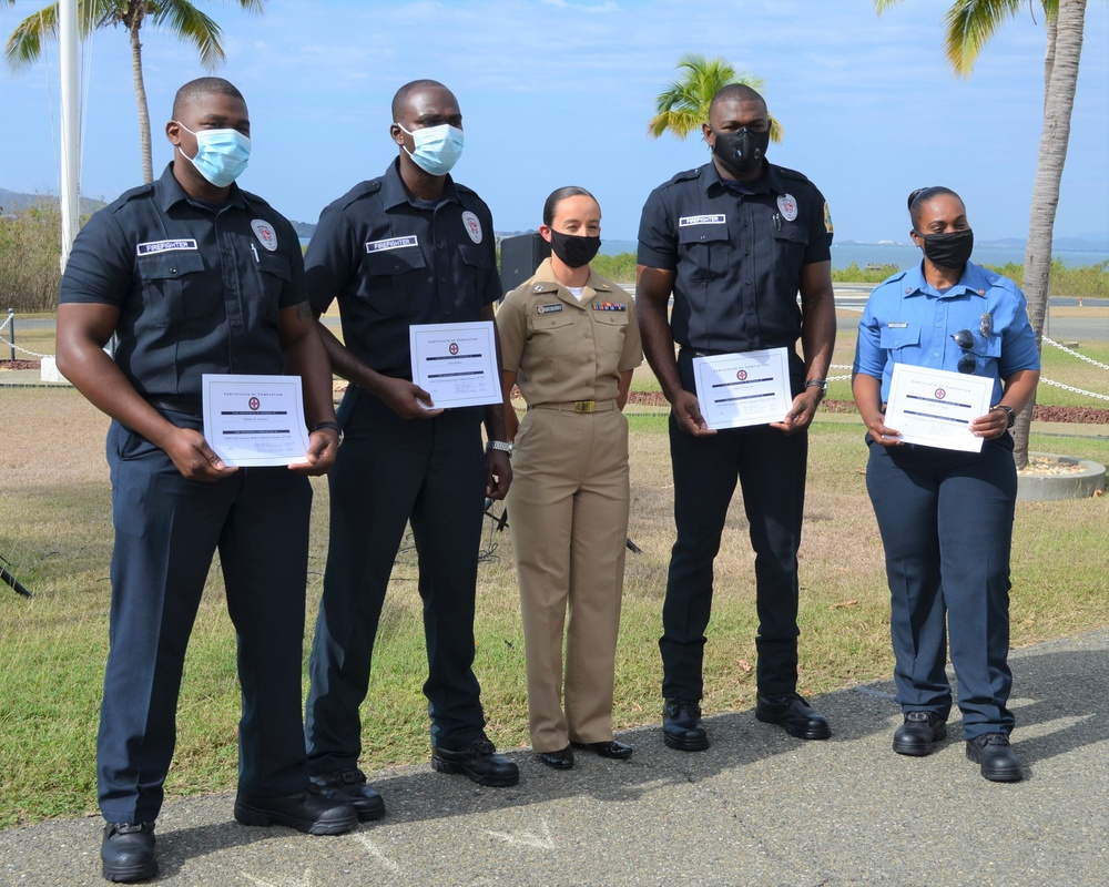 Foreign National Firefighters Excel in Guantanamo Bay Emergency Medical Technician Training