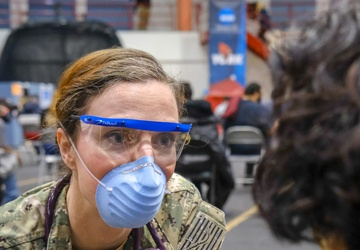 U.S. Navy Sailors support COVID-19 vaccination efforts in New York City