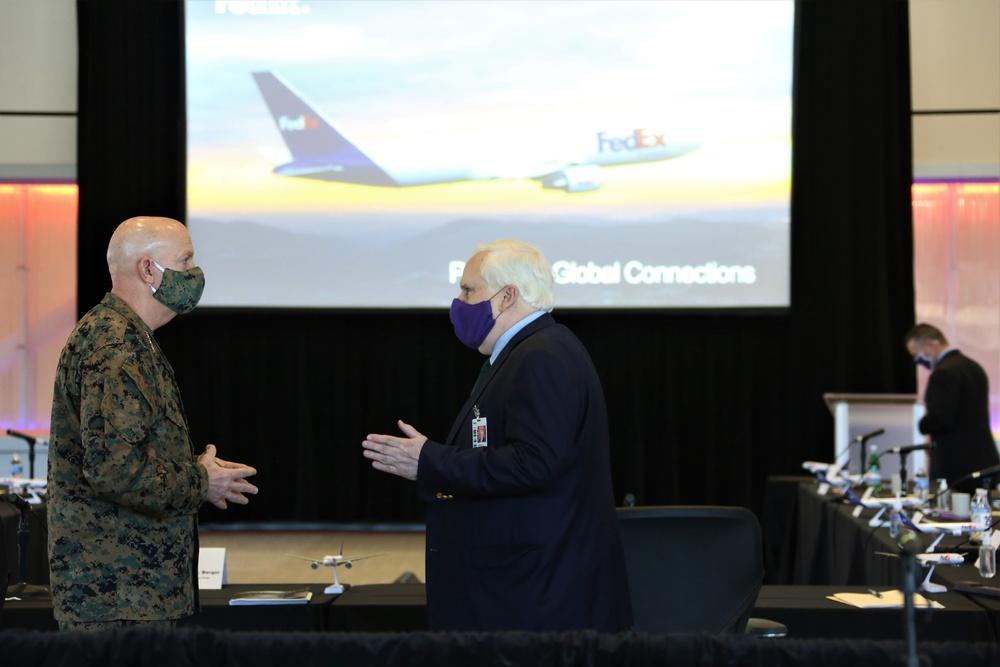 Gen. Berger visits FedEx