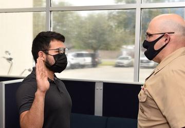 Commander, Navy Recruiting Command swears in Rio Grande Valley Native
