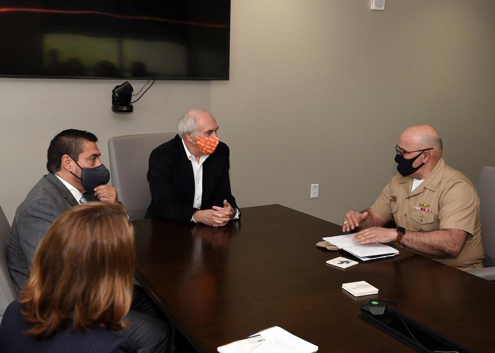 Commander, Navy Recruiting Command visits University of Texas-Rio Grande Valley
