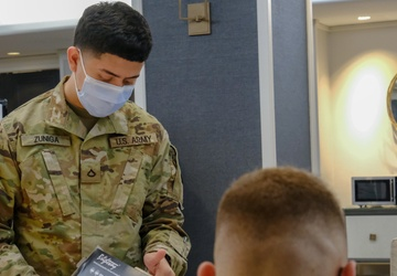 Service members in-process for new COVID Community Vaccination Centers