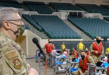 U.S. Service Members aid preparations for Cleveland CVC