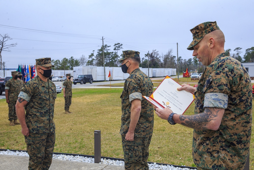 Sgt. McDonald Receives the Navy and Marine Corps Medal