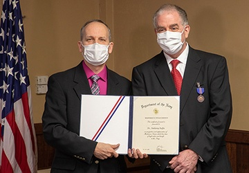Four NUWC Division Newport employees receive Navy Civilian Service Awards