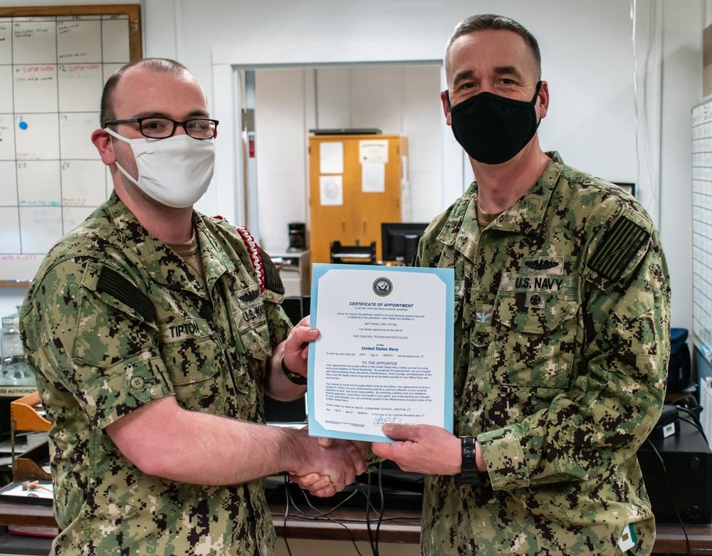 Naval Submarine School Instructor Meritoriously Advanced