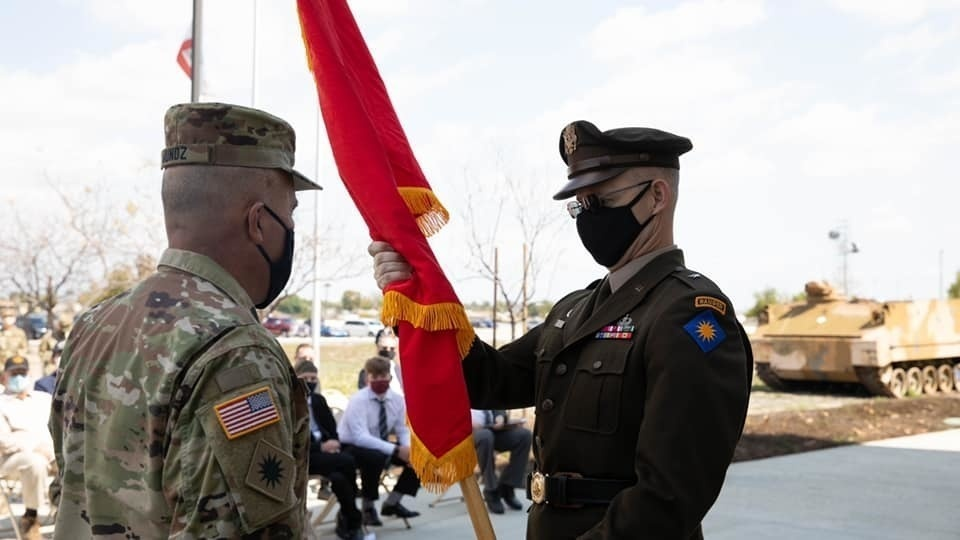 Promotion ceremony of Brigadier General Robert Wooldridge, Deputy Commanding General of Support for the 40th Infantry Division