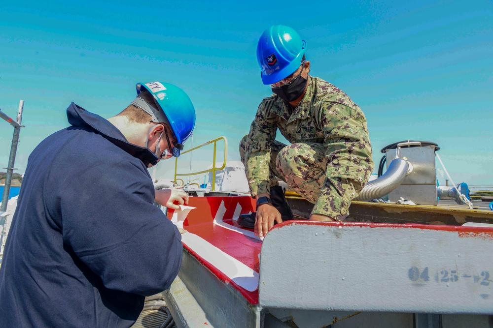 USS Ronald Reagan In-Port Operations
