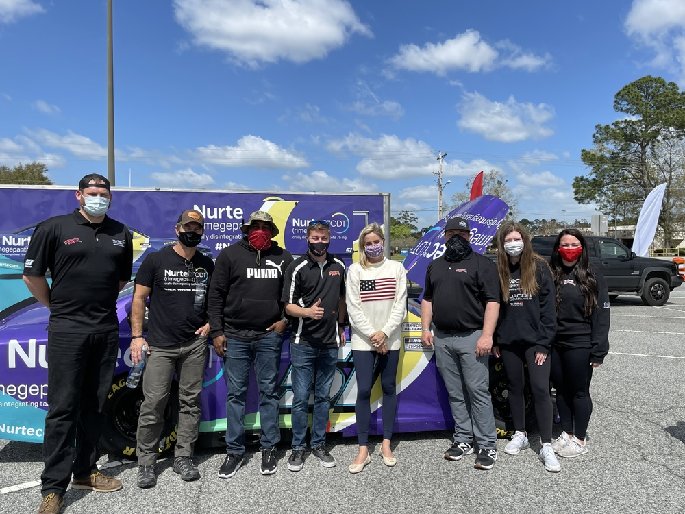 Biohaven Pharmaceuticals and Rick Ware Racing Visit Fort Stewart