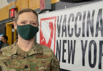 U.S. Air Force Airmen deploy to support Community Vaccination Center in Brooklyn