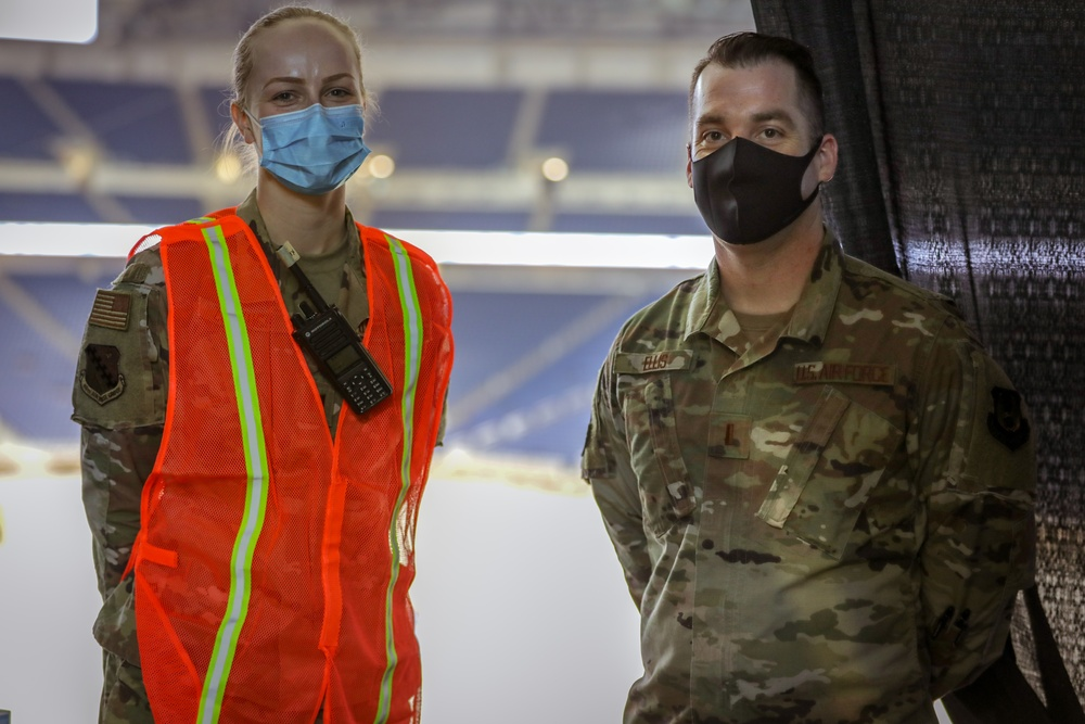 U.S. Air Force personnel conduct Ford Field CVC operations