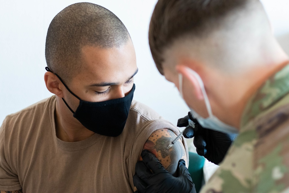 KFOR Soldiers administer COVID-19 vaccine