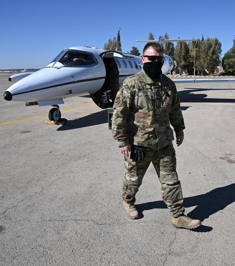 Deployed Airman holds rare pedigree