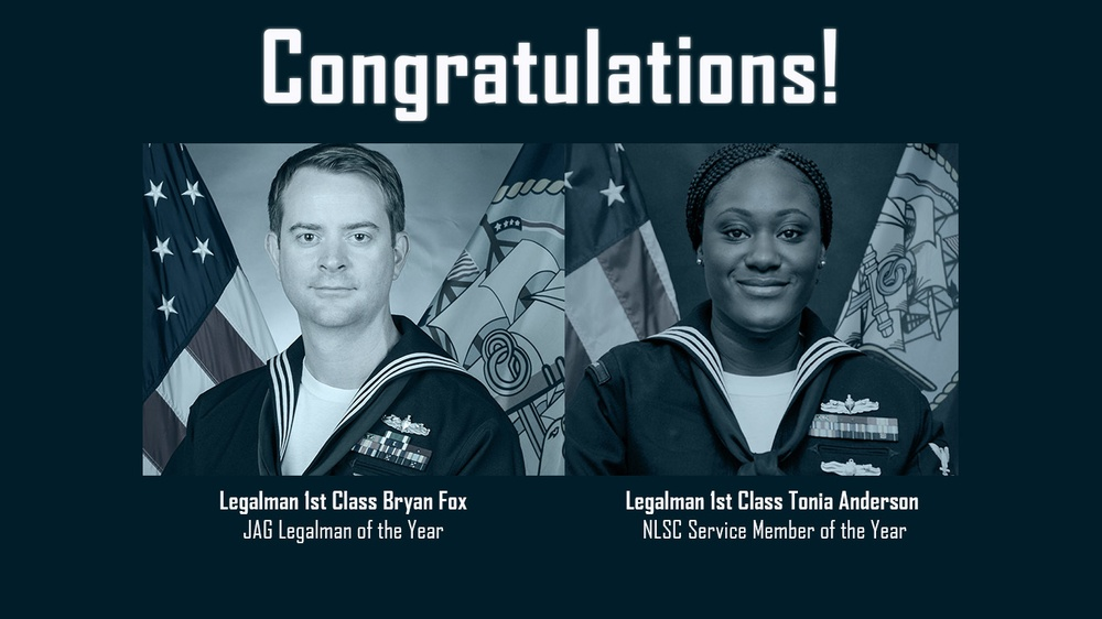 2020 JAG Legalman of the Year and Naval Legal Service Command Service Member of the Year