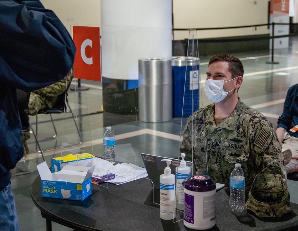 U.S. Navy Sailors Support Boston CVC