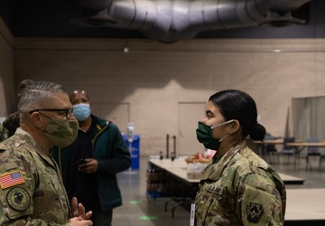 Joint Task Force Civil Support Commanding General tours Community Vaccination Center in Philadelphia