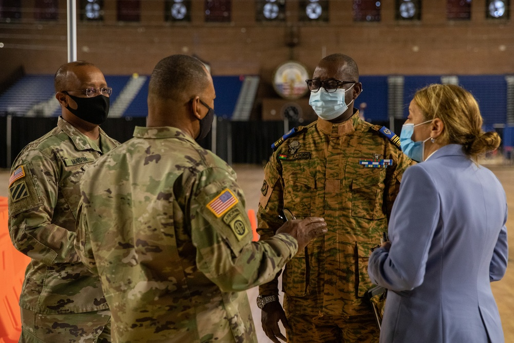 Burkina Faso officer visit to DC Armory
