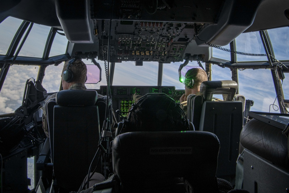 492nd SOW aircrew conduct a training flight aboard an AC-130J
