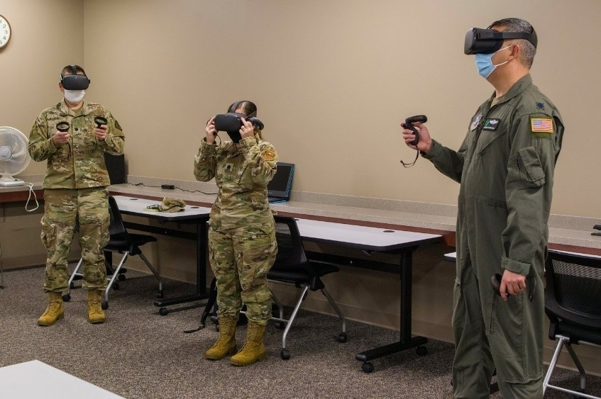 Air University students experience virtual reality regional study trips