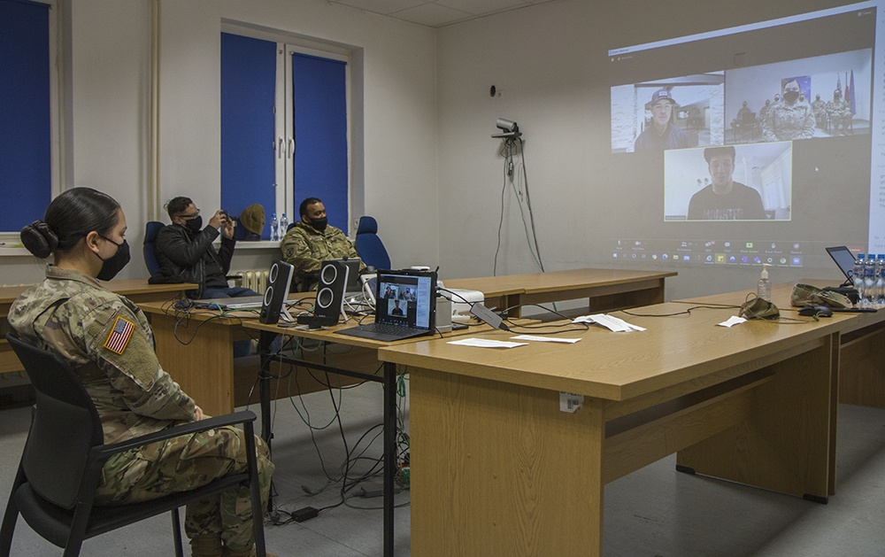 NFL Super Bowl champion virtually meets with Soldiers deployed to Poland