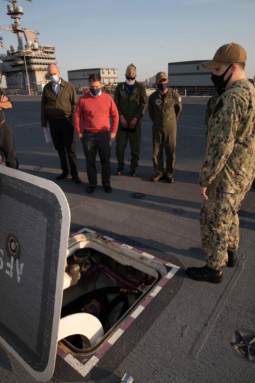 Fleet Readiness Director visits USS Gerald R. Ford (CVN 78)