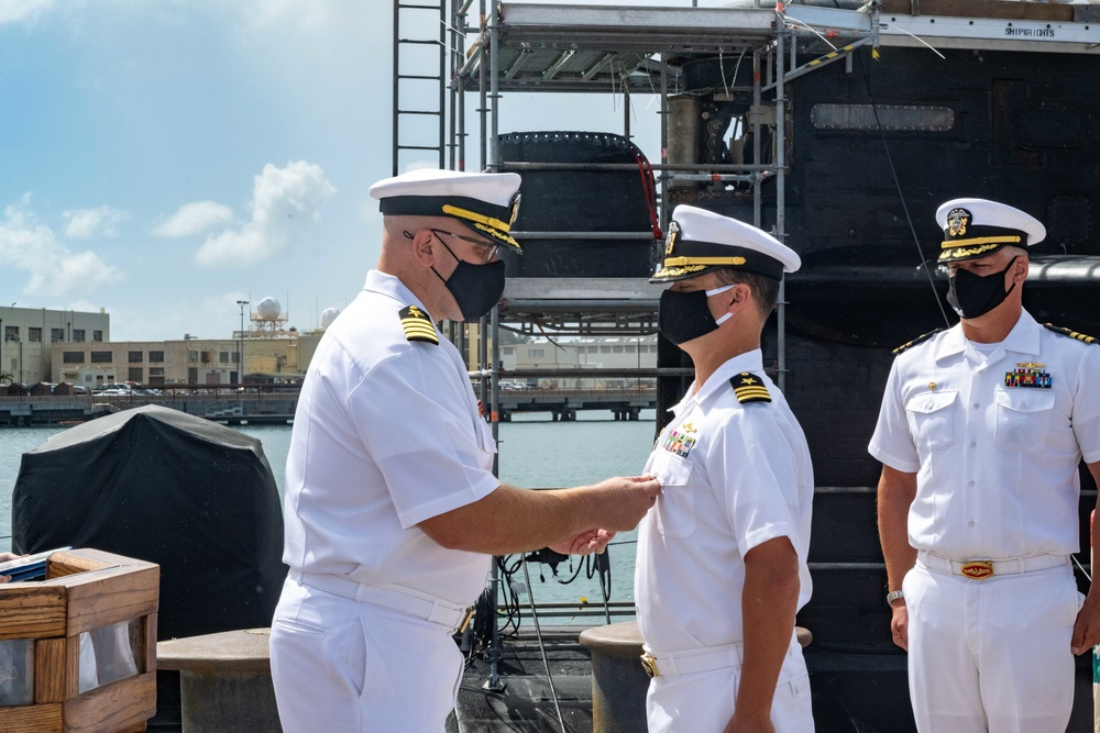 USS Chicago Holds Change of Command