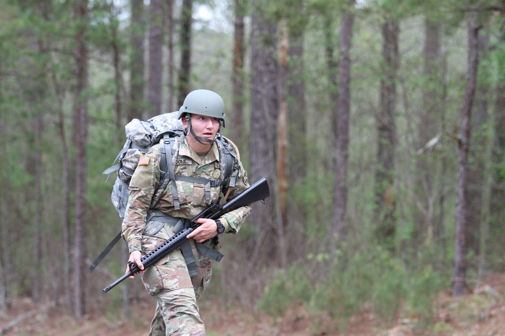3d MCDS Best Warrior Competitors complete a 12-mile footmarch