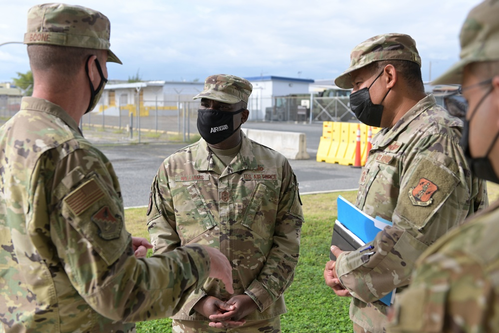 ANG Command Chief visit to the 156th Wing