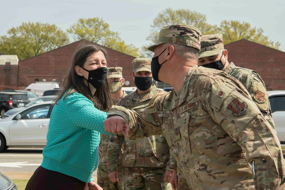 U.S. Congresswoman Elaine Luria visits the Virginia Air National Guard