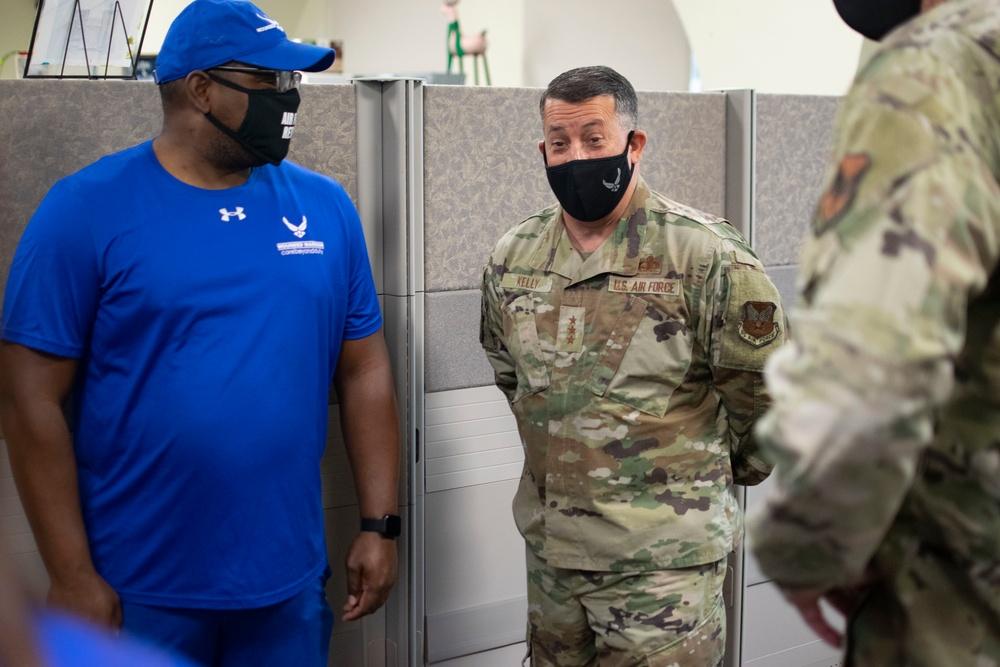 Lt Gen Kelly Meeting With AF Athletes