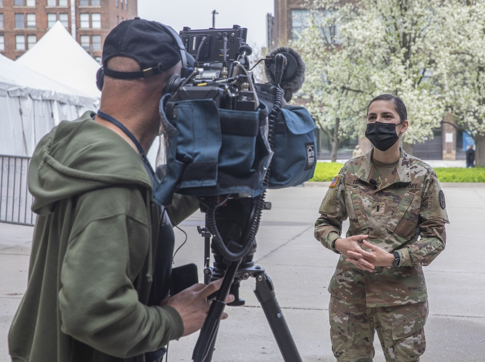 U.S. Army Nurse interviewed by Cleveland television station