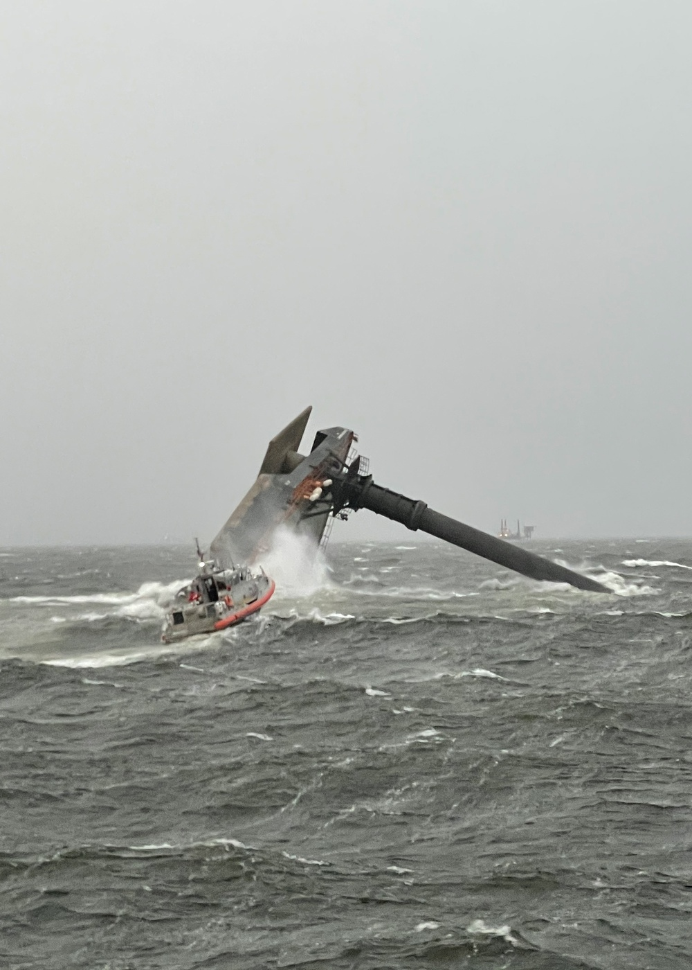 Coast Guard, good Samaritans rescue 6 people from capsized vessel 8 miles south of Grand Isle, searching for more
