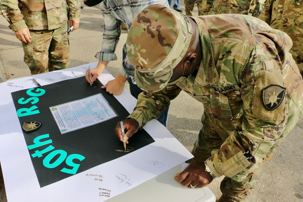 Deployed Soldiers join to recognize Sexual Assault Awareness and Prevention Month in Poland