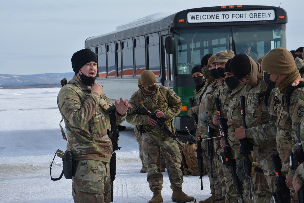 Rotational security force arrives at Fort Greely