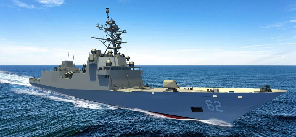 New constellation-class frigate being digitally modeled as it nears completion of the design phase