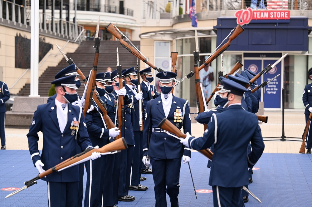 United States Air Force Honor Guard makes historic National Harbor performance