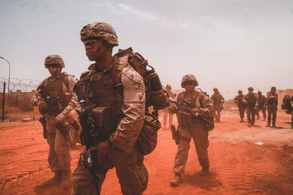 CTF-68 conducts joint forces readiness exercise with French Armed Forces in Timbuktu, Mali