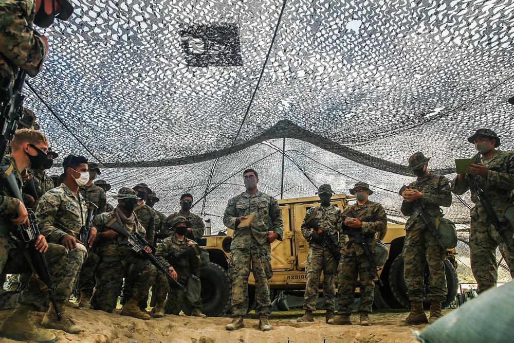 Pacific Pioneer   9th ESB Marines establish company COC